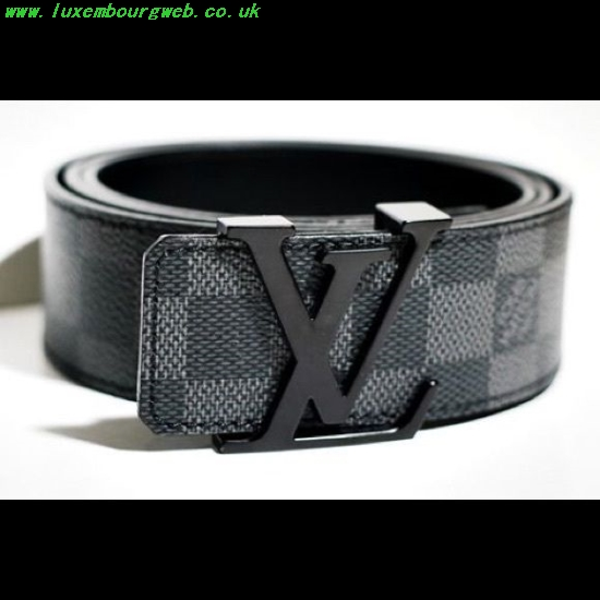 Louis Vuitton Belt Black And Silver